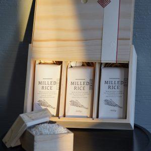 精緻三格米禮盒