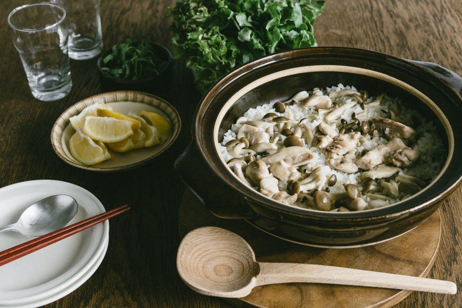 米販咖啡_米日記_食譜_生菜捲菇菇雞肉炊飯-001