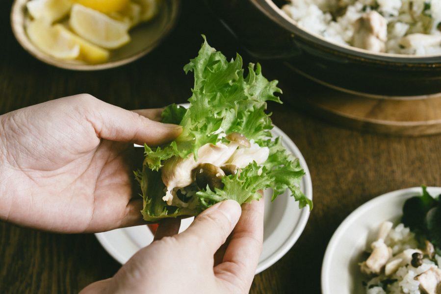 米販咖啡_米日記_食譜_生菜捲菇菇雞肉炊飯-03