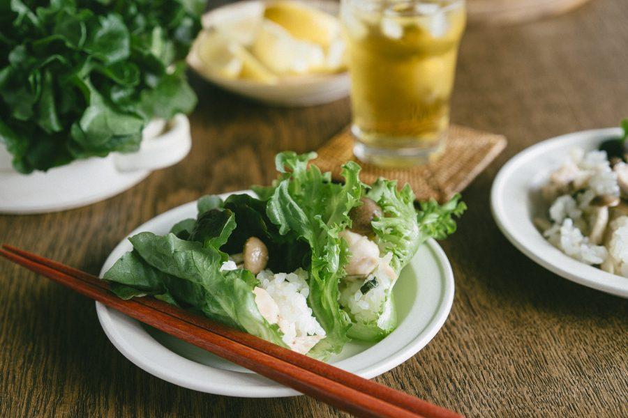 米販咖啡_米日記_食譜_生菜捲菇菇雞肉炊飯-05