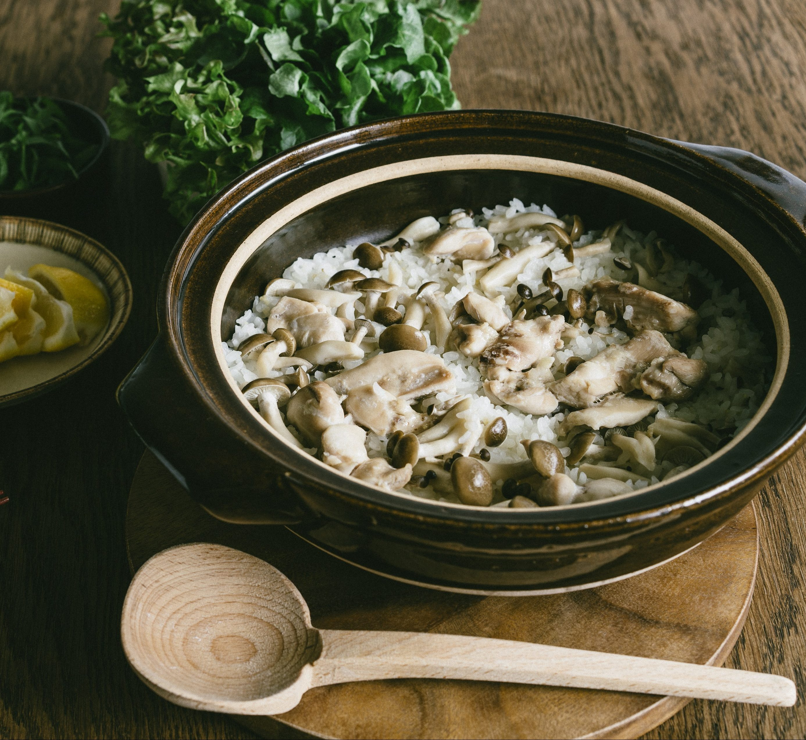 米販咖啡_米日記_食譜_生菜捲菇菇雞肉炊飯-01